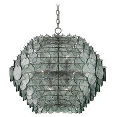 Currey and Company Braithwell Painted Silver Granello Pendant Light