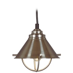 Harbour Brushed Steel LED Mini-Pendant Light by Kenroy Home