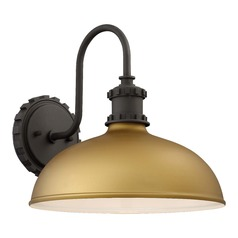 Barn Light Outdoor Wall Light Gold Escudilla by Minka Lavery