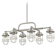 Golden Lighting Seaport Pewter Pendant Light with Bowl / Dome Shade