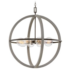 Hinkley Lighting Bodie Dark Cement / Bronze Chandelier