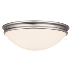 Mid-Century Modern Flushmount Light Brushed Steel by Access Lighting