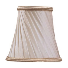 Eggshell with Gold Trim Bell Lamp Shade with Clip-On Assembly