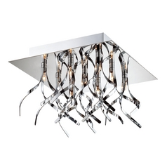 Lite Source Lighting Ferill Chrome Flushmount Light