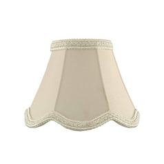 Clip-On Scalloped Lace Cream Lamp Shade