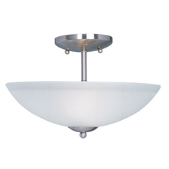 Maxim Lighting Logan Satin Nickel Semi-Flushmount Light
