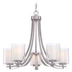 Minka Parsons Studio Brushed Nickel Chandelier