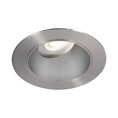 WAC Lighting Round Haze Brushed Nickel 3.5