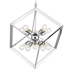 Golden Lighting Architect Chrome Pendant Light