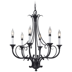 Chandelier in Black Finish