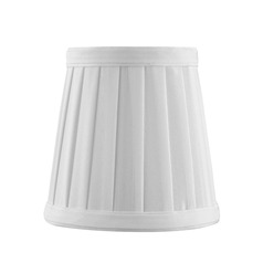 Clip-On Empire Pleated White Lamp Shade