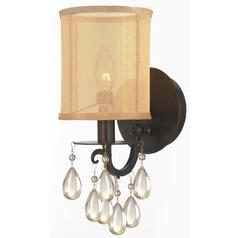 Crystorama Lighting Hampton English Bronze Sconce