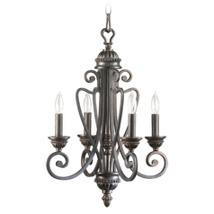 Quorum Lighting Summerset Toasted Sienna Mini-Chandelier
