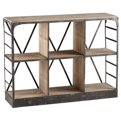 Cyan Design Newberg Raw Iron & Natural Wood Cabinets / Storage / Organization