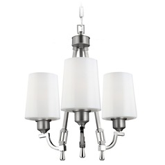 Feiss Lighting Preakness Satin Nickel / Polished Nickel Mini-Chandelier