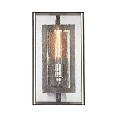 Elk Lighting Ridgeview Weathered Zinc, Polished Nickel Sconce