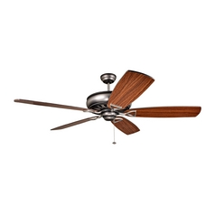 Ceiling Fan Without Light in Antique Nickle Dark Finish