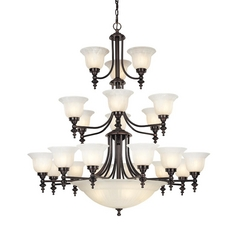 Dolan Designs 3-Tier 24-Light Chandelier in Royal Bronze
