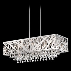Modern Chandelier in Chrome Finish