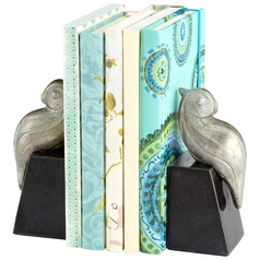Cyan Design Perched Bird Pewter Bookend