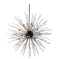 Mid-Century Modern Chandelier Polished Nickel Sparta by Hudson Valley Lighting