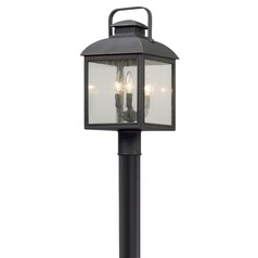 Seeded Glass LED Post Light Bronze Troy Lighting