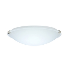 Flushmount Light White Glass Polished Nickel by Besa Lighting