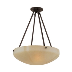 Sea Gull Lighting Pendant Light with Beige / Cream Glass in Heirloom Bronze Finish 65474-782