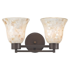 Bathroom Light with Mosaic Glass in Neuvelle Bronze Finish