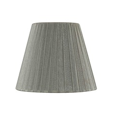 Clip-On Empire Pleated Opaque Pewter Lamp Shade