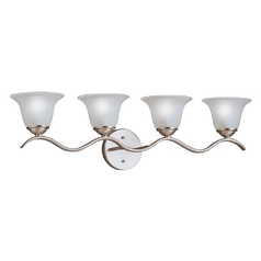 Kichler Lighting Kichler Bathroom Light in Brushed Nickel Finish 6324NI