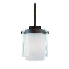 Jeremiah Kenswick Peruvian Bronze Mini-Pendant Light with Cylindrical Shade