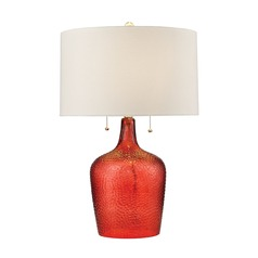 Dimond Lighting Blood Orange Table Lamp with Drum Shade