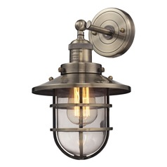 Elk Lighting Seaport Antique Brass Sconce