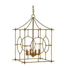 Currey and Company Lynworth Texturedgold Pendant Light