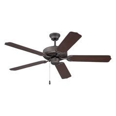 Craftmade 52-Inch Espresso Outdoor Ceiling Fan without Light