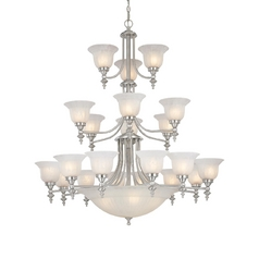 Dolan Designs 3-Tier 24-Light Chandelier in Satin Nickel