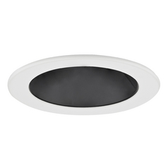 Black Adjustable Reflector LED GU10 Trim for 4-Inch Line and Low Voltage Recessed Cans
