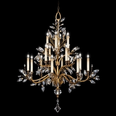 Fine Art Lamps Crystal Laurel Gold Leaf Crystal Chandelier