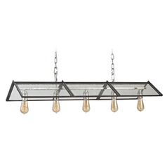 Elk Lighting Ridgeview Weathered Zinc, Polished Nickel Island Light