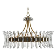 Currey and Company Coquette Antique Brass Pendant Light