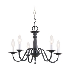 Sea Gull Lighting Mini-Chandelier in Olde Iron Finish 3121-72