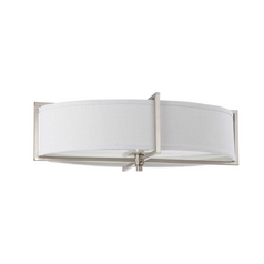 Flushmount Light with Oval Shade in Brushed Nickel Finish