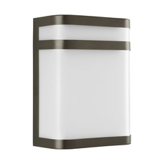 Progress Lighting Progress Modern Outdoor Wall Light with White in Antique Bronze Finish P5801-20