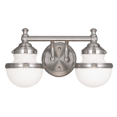 Livex Lighting Oldwick Brushed Nickel Bathroom Light