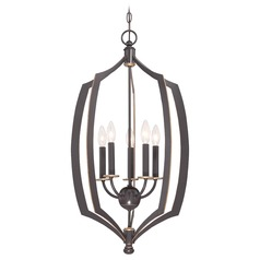 Minka Middletown Downton Bronze with Gold Highlight Pendant Light