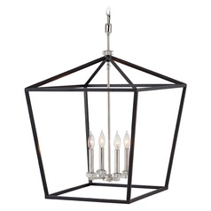 Hinkley Lighting Stinson Black / Polished Nickel Chandelier