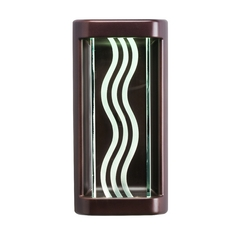 Kichler Modern LED Sconce Wall Light in Olde Bronze Finish