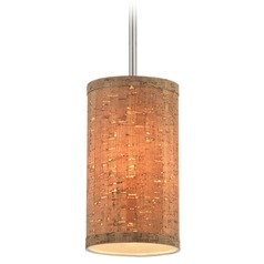 Milo Satin Nickel Mini-Pendant Light with Cylindrical Shade