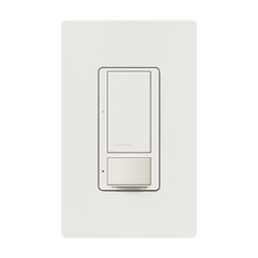 Lutron Dimmer Controls Vacancy and Occupancy Sensor in White Finish MS-OPS6M2-DV-WH